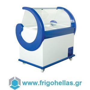 Alfa Frigor Spaniola (9 γεύσεις) Επαγγελματικό Ψυγείο Βιτρίνα Χύμα Παγωτού-Ελληνικής Κατασκευής-1180x940x1320mm