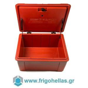 AVATHERM Thermobox 100275 Ισοθερμικό Κιβώτιο Μεταφοράς για Delivery Κόκκινο-46x60x38cm