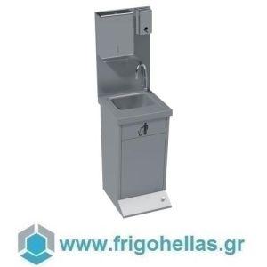 BAMBAS FROST LPDX 45 (45x46x155cm) Σταθμός Πλύσης Χεριών - Λαντζάκι Επιτοίχιο Inox