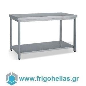 BAMBAS FROST T 100 (100x70x85cm) Τραπέζι Εργασίας - Πάγκος Ανοξείδωτος
