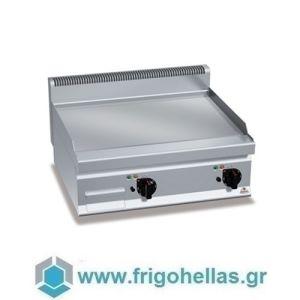 BERTOS E6FL6BP-2 Επιτραπέζιο Πλατό Ηλεκτρικό Με Λεία Πλάκα & Δύο Ζώνες Ψησίματος - 600x600x290mm