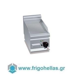 BERTOS E6FR3BP Επιτραπέζιο Πλατό Ηλεκτρικό Με Ραβδωτή Πλάκα & Μία Ζώνη Ψησίματος - 300x600x290mm