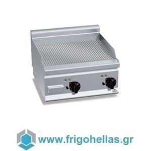 BERTOS E6FR6BP-2 Επιτραπέζιο Πλατό Ηλεκτρικό Με Ραβδωτή Πλάκα & Δύο Ζώνες Ψησίματος - 600x600x290mm