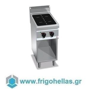BERTOS E7P2M/VTR Επιδαπέδια Κουζίνα Ηλεκτρική Με 2 Κεραμικές Εστίες- 400x700x900mm