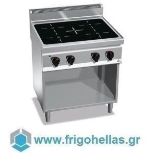 BERTOS E7P4M/VTR Επιδαπέδια Κουζίνα Ηλεκτρική Με 4 Κεραμικές Εστίες- 800x700x900mm