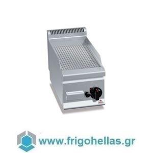 BERTOS G6FR3B Επιτραπέζιο Πλατό Αερίου Με Ραβδωτή Πλάκα & Μία Ζώνη Ψησίματος - 300x600x290mm