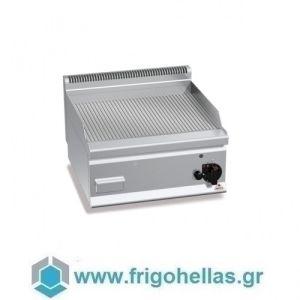 BERTOS G6FR6B Επιτραπέζιο Πλατό Αερίου Με Ραβδωτή Πλάκα & Μία Ζώνη Ψησίματος - 600x600x290mm