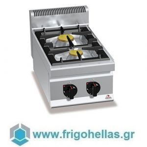 BERTOS G7F2B-TK Επιτραπέζια Κουζίνα Αερίου με 2 Εστίες- 400x700x290mm