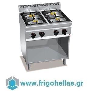 BERTOS G7F4M-TK Επιδαπέδια Κουζίνα Αερίου Με 4 Εστίες - 800x700x900mm