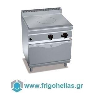 Bertos G7TP+FG TuttaPiastra Επιδαπέδια Πλάκα Ψησίματος Αερίου με Φούρνο - 800x700x900mm