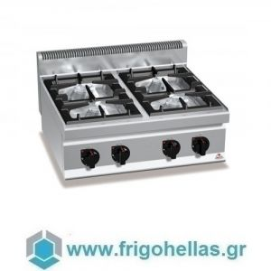 BERTOS G7F4BP Επιτραπέζια Κουζίνα Αερίου Με 4 Εστίες - 800x700x290mm