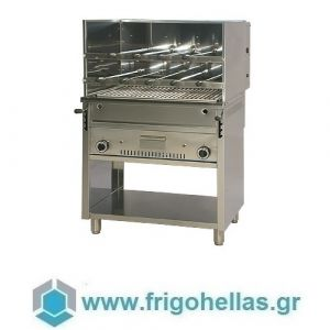 UNIVERSO SRL CHURRASCO CH80+PLX80M Επιδαπέδια Ψησταριά Αερίου Για Κοντοσούβλι, Κοκορέτσι, mix grill -  800x700x1400mm