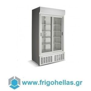 CRYSTAL CRS930 (Εξουσιοδοτημένο Service - Επίσημος Μεταπωλητής) Επαγγελματικά Ψυγεία Αναψυκτικών 1010Lit με 2 Πόρτες Συρόμενες- Ελληνικής Κατασκευής - 1100x716x2059mm