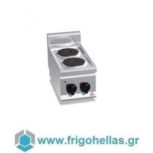 BERTOS E6P2B Επιτραπέζια Κουζίνα Ηλεκτρική Με 2 Εστίες - 300x600x290mm