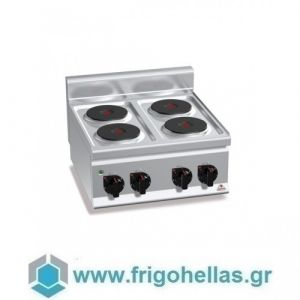 BERTOS E6P4B Επιτραπέζια Κουζίνα Ηλεκτρική Με 4 Εστίες - 600x600x290mm
