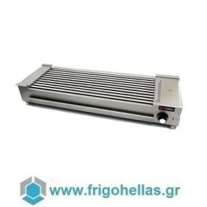 ECOGRILL 8C 400S Ηλεκτρικό Grill για Σουβλάκια 3Kw/230Volt - Ψηστική Επιφάνεια: 570x210mm