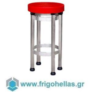 Frigo Hellas 7-058-10 Αντικραδασμικός πάγκος κοπής κρεοπωλείου  Ø50x90cm Πάχος πάγκου: 8cm - Κόκκινο