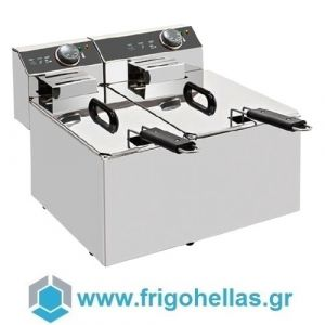 XDOME XDF47L Επαγγελματική Φριτέζα Ηλεκτρική 4+7Lit - 5,4Kw - 230Volt (Πορτογαλίας)