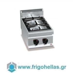 BERTOS G7F2B Επιτραπέζια Κουζίνα Αερίου Με 2 Εστίες - 400x700x290mm