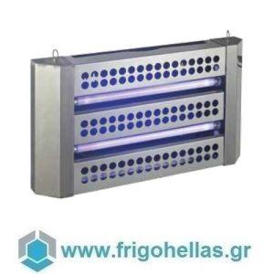 H30 Επιτοίχια Ηλεκτρική Εντομοπαγίδα με Λάμπα UV & ειδική κολλητική επιφάνεια (Για 100 τ.μ)