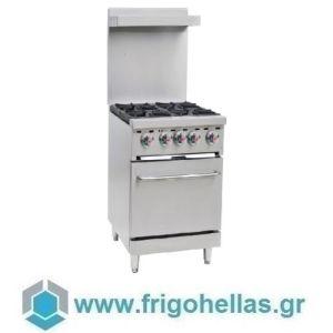 KARAMCO AS-24-OZ (61x76x85/95cm) Κουζίνα Υγραερίου με 4 Εστίες & Φούρνο
