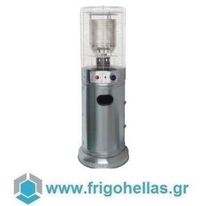 KARAMCO EHSS (Ø46x137cm) Σόμπα-Θερμάστρα Υγραερίου-Μανιτάρι - Inox (11Kw)