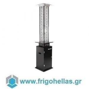 KARAMCO FBL (Ø46x210cm) Σόμπα-Θερμάστρα Υγραερίου-Μανιτάρι - Inox (15Kw)
