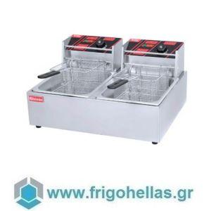 HEF-89THERMOS Επιτραπέζια Ηλεκτρική Φριτέζα 8+8Lit - 57x45x36cm