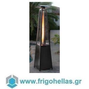 KARAMCO SBH (50x50x227cm) Σόμπα-Θερμάστρα Υγραερίου-Μανιτάρι - Μαύρη (13Kw)