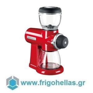 KitchenAid 5KCG0702EER Μύλος Άλεσης Καφέ 200gr με δοσομετρητή Empire Red (Υποστηρίζεται από εξουσιοδοτημένο service στην Ελλάδα)