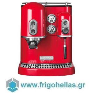 KitchenAid 5KES2102EER Μηχανή Espresso Κόκκινη Empire Red Σειρά Artisan