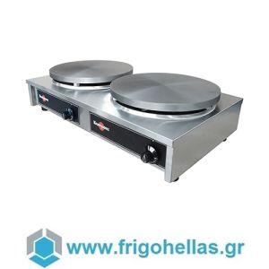 Krampouz CECIM3 (ΝΕΑ ΠΑΡΑΛΑΒΗ 15 ΟΚΤΩΒΡΙΟΥ) Κρεπιέρα Ηλεκτρική Διπλή 2 x Ø350mm - 750x420x175mm