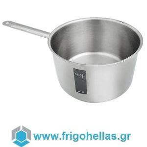 LACOR 50225 (6,3 Lit) Chef Classic Ανοξείδωτο Επαγγελματικό Κατσαρόλι Βαθύ (6,3 Lit) - ΔxΥ: Ø240x140mm