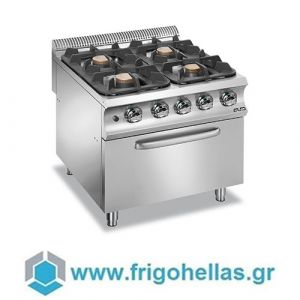 MBM G4F98XL Επιδαπέδια Κουζίνα Υγραερίου με 4 Εστίες & Φούρνο Υγραερίου 7Kw - 800x900x850mm