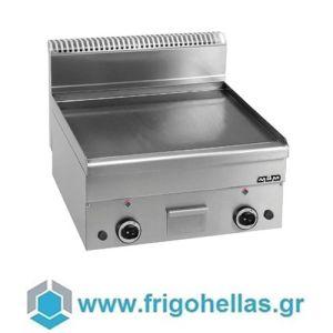 MBM GFT66LC Επιτραπέζιο Πλατώ Υγραερίου Λείο - 600x600x270mm (Πλάκα Χρωμίου)