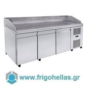 Niki Inox  PA PI 209M Ψυγείo Πάγκος Προετοιμασίας Πίτσας με Γρανίτη - 2090x800x1100mm (Υποστηρίζεται από εξουσιοδοτημένο Service)