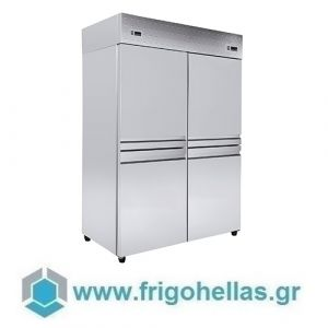 Niki Inox  TH DF 140M Ψυγείο Συντήρησης & Κατάψυξης & Ψαριέρα-140x80x215cm (Υποστηρίζεται από εξουσιοδοτημένο Service)