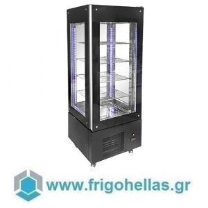 Niki Inox  TH V4 070M Ψυγεία Βιτρίνα Όρθια Συντήρησης 4 Όψεων (Inox) - 700x700x1930mm (Υποστηρίζεται από εξουσιοδοτημένο Service)