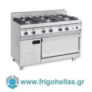 NORTH F GAS E600 Επιδαπέδια Κουζίνα Φυσικού Αερίου με Φούρνο