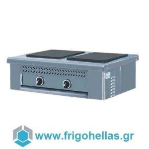 NORTH E2-P Ηλεκτρική Επιτραπέζια Κουζίνα Μαντεμένιες εστίες (Δώρο 1 Μαχαίρι VictorInox)