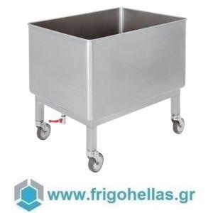 PADERNO 44028-19 (80x60x75cm - 190 Lit) Ανοξείδωτη Τροχήλατη Δεξαμενή