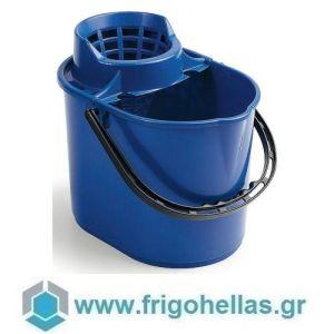 PADERNO 44168-12 (35x27x29,5cm - 12 Lit) Βαθμονομημένος Κουβάς Σφουγγαρίσματος Πολυπροπυλενίου Μπλε με Στραγγιστήρι Σφουγγαρίστρας