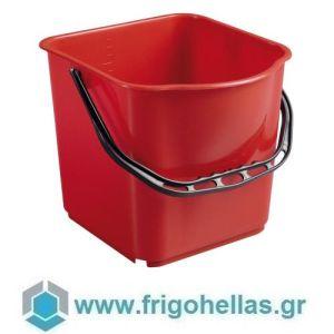 PADERNO 44169R06 (24x19x21,5cm - 6 Lit) Βαθμονομημένος Κουβάς Σφουγγαρίσματος Πολυπροπυλενίου Κόκκινος
