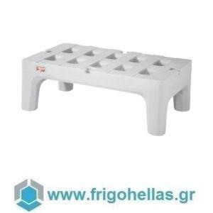 PADERNO 49371-09 (91,4x56x30,5cm) Παλέτα Λευκή Πολυαιθυλενίου με Πόδια - Αντοχή: 68 Kg - Metro