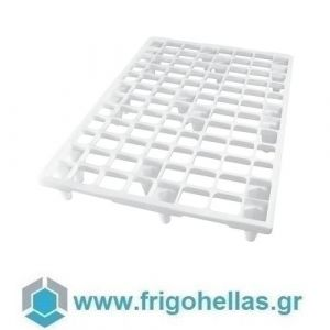 PADERNO 49373-05 (80x120x14cm - 4,6 Kg) Παλέτα Λευκή Πολυαιθυλενίου - Αντοχή: 1000 Kg