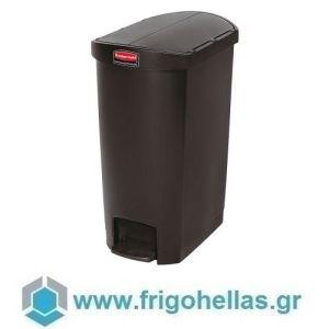PADERNO 49933-50 (53x34x72cm - 50 Lit) Κάδος Απορριμάτων Πολυαιθυλενίου με Πεντάλ Μαύρος - Rubbermaid