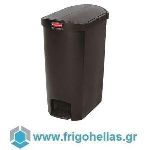 PADERNO 49933-68 (56x37x78cm - 68 Lit) Κάδος Απορριμάτων Πολυαιθυλενίου με Πεντάλ Μαύρος - Rubbermaid