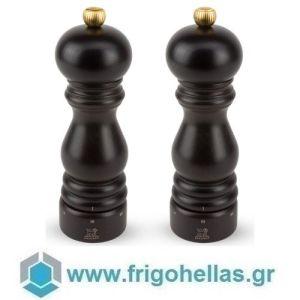 PEUGEOT 2/23461 (18cm) PARIS U'Select Σετ 2 τμχ Μύλος Πιπεριού & Αλατιού Chocolate