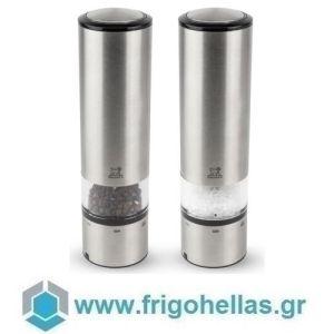 PEUGEOT 2/27162 (20cm) ELIS SENSE Σετ 2 τμχ Ηλεκτρικός Μύλος Πιπεριού & Αλατιού Inox