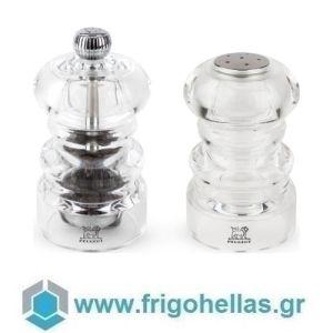 PEUGEOT 2/34580 (9cm) NANCY Σετ 2 τμχ Μύλος Πιπεριού & Αλατιέρα Διαφανής
